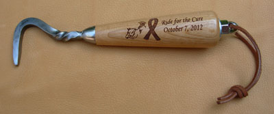 photo of engraved hoof pick - Ride for the Cure