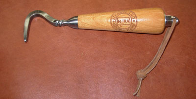 photo of engraved hoof pick